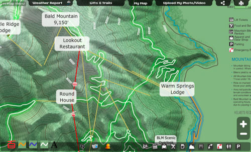 Baldy Summer Trail Map