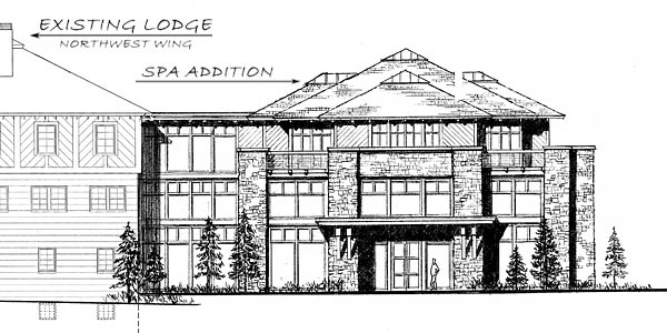 Spa Addition - NE Elevation