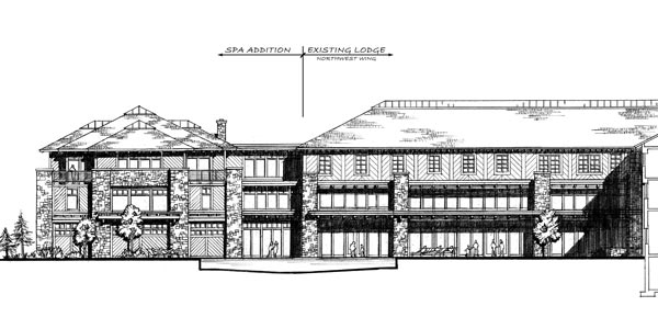 Spa Addition - SW Elevation