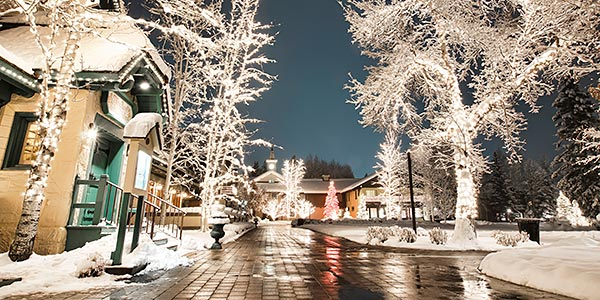 Million lights brighten up the village this holiday season.