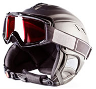 Kids' helmet and goggles